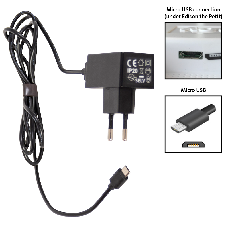 Fatboy Beleuchtungszubehör Beleuchtungszubehör Eu Micro Usb Adapter