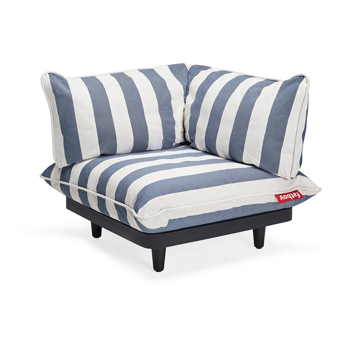 Fatboy Paletti Corner Seat LEFT Stripe Ocean Blue